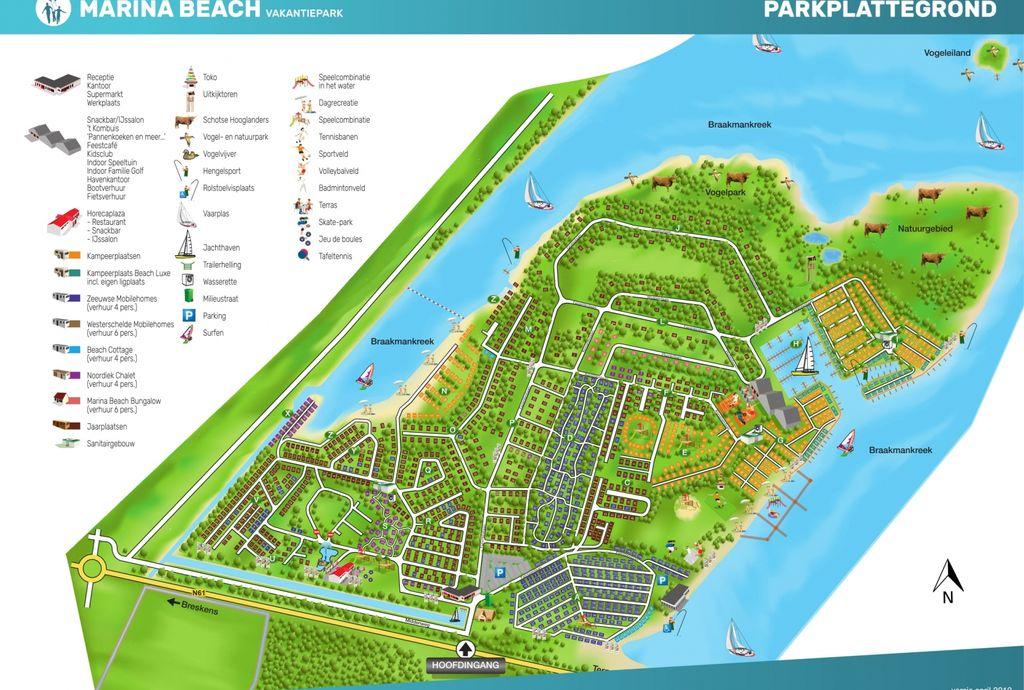Oostappen park Marina Beach